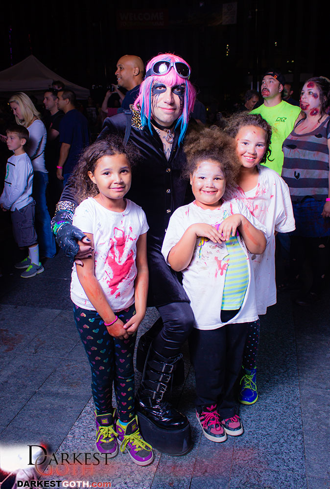 Co-Founder Rocky Doll II helped young attendees feel at home!