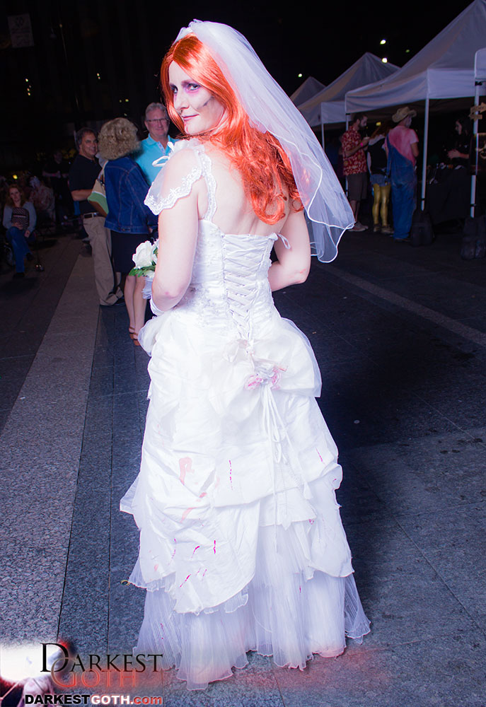 This zombie bride did so much work on her Zombie wedding dress that we had to show her off!