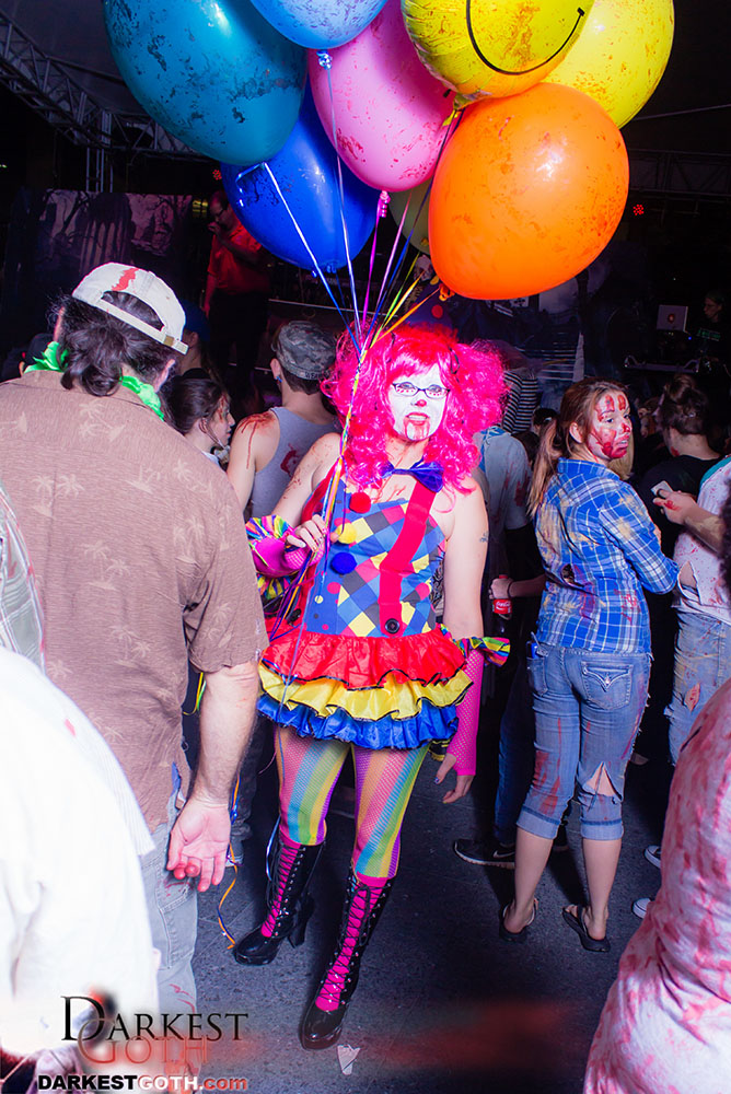 Other jobs for surviving zombies include becoming clowns for birthday parties...