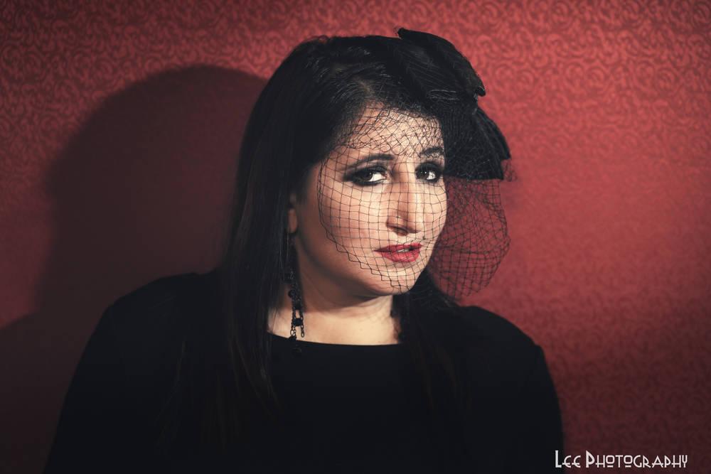 Black Veiled Goth 4