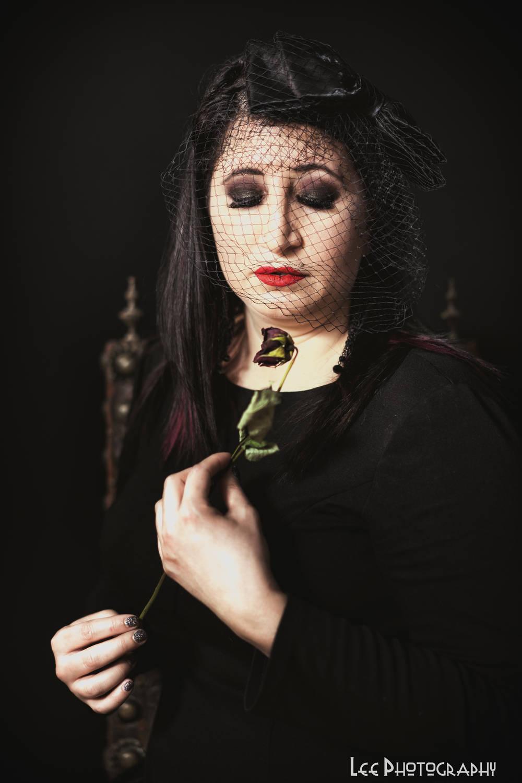 Black Veiled Goth 3