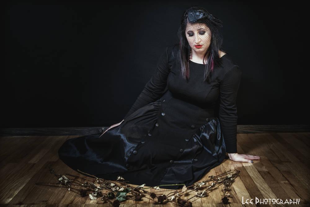 Black Veiled Goth 2